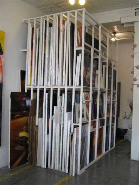 Canvas Drying Rack by Painting Storage Rack Workspace