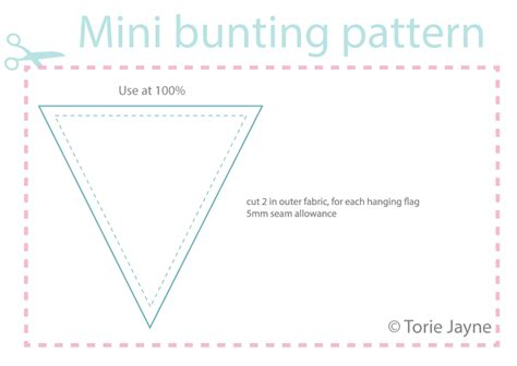 how to make a stencil template free downloadable mini bunting pattern torie jayne