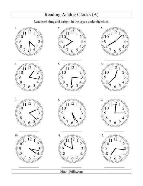 Analog Clock Practice Worksheets by 16 Best Images Of Digital Clock Faces Worksheet Blank