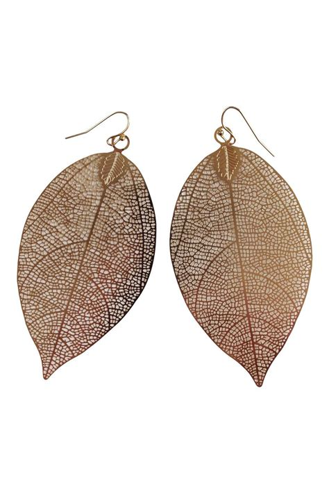 ghome2 filigree leaf earrings from minnesota by go home