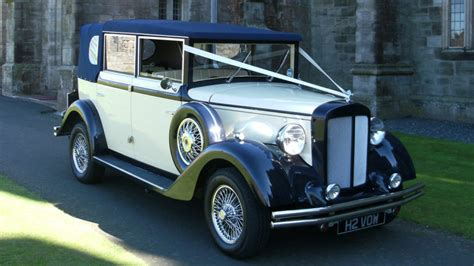 Wedding Car Hire Newcastle by Vintage Style Regent Semi Convertible Wedding Car Hire In
