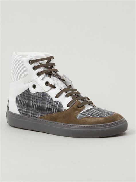 balenciaga sneakers for lyst balenciaga chameleon hi top sneakers in gray for