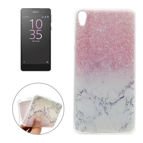 Softcase Xperia E for sony xperia e5 marble pattern soft tpu protective back cover alex nld