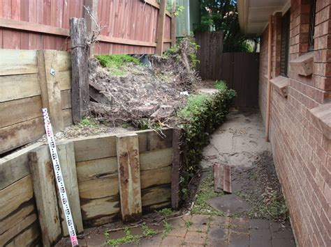 Timber Sleeper Retaining Walls by Australian Retaining Walls C C A H4 Treated Hardwood