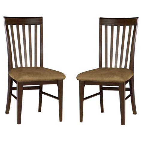 Montreal Slatted Dining Chair W Cappuccino Fabric Seat Dining Chairs Montreal