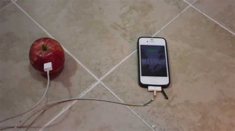 charge your phone how to charge your iphone with an apple fruit youtube