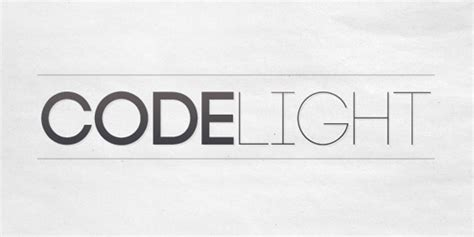 Code Light Font by 150 Greatest Free High Quality Fonts