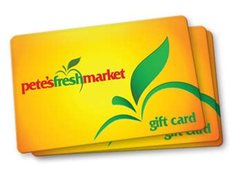 Fresh Market Gift Card Balance - gift cards pete s fresh market