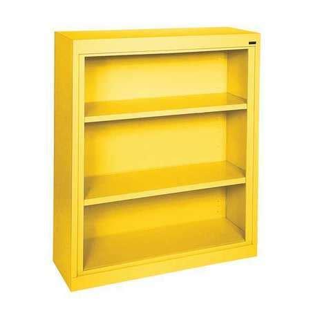 sandusky adjustable bookcase 36x18x42in yellow
