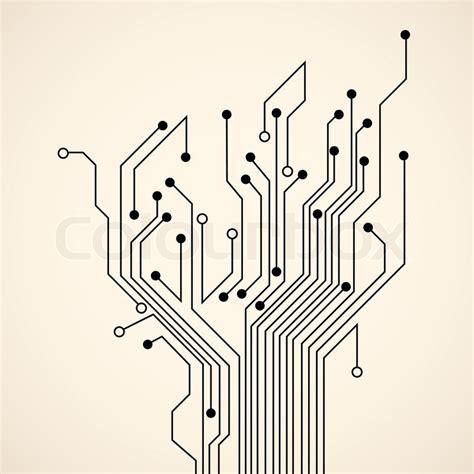 pcb design job opening coimbatore abstract circuit tree stock vector colourbox