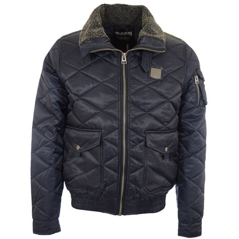 Voi Quilted Jacket Mens by Voi Fierce Zip Through Quilted Navy Jacket Voi