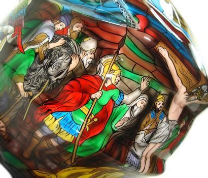 Mcr Custompaint custom painted helmet gallery stained glass
