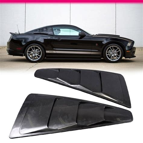 Side Vent Side Window Black Khusus All New Civic Turbo 2016 2017 fit for 05 14 ford mustang v6 black side quarter window louver board abs 3 vent