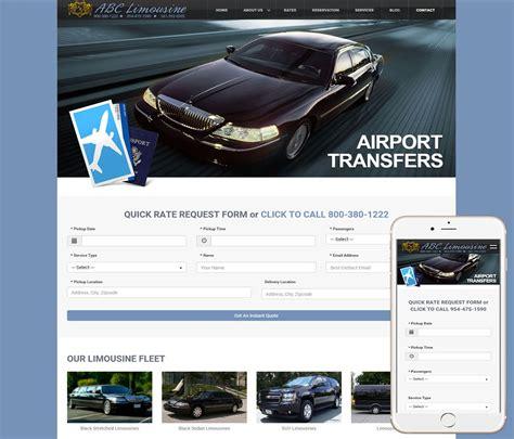 limousine website limousine website design ww web design studios