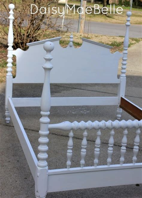 chalk paint bed white chalk painted bed daisymaebelle daisymaebelle