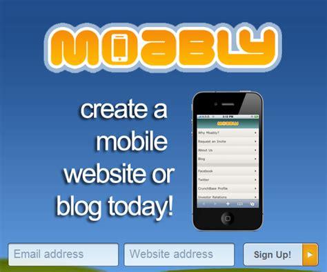 creare sito mobile gratis moably creare la versione mobile di un sito o