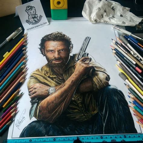andrew lincoln character portrait of andrew lincoln the walking dead characters by