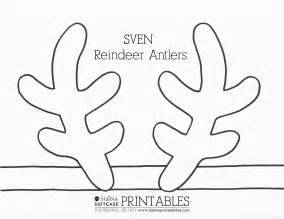 Reindeer Antlers Template by Frozen Elsa Crown Template Sven Antler Template