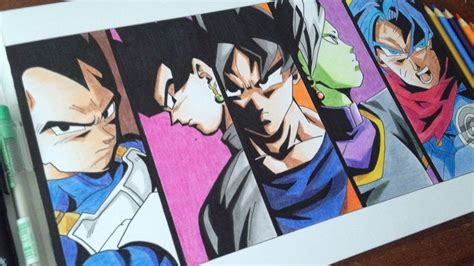Black Saga speed drawing black goku saga dibujando saga de black