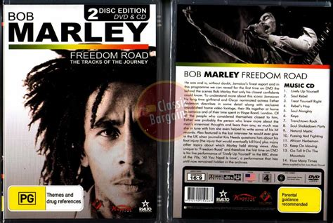 bob marley biography dvd bob marley freedom road dvd cd tracks of journey new