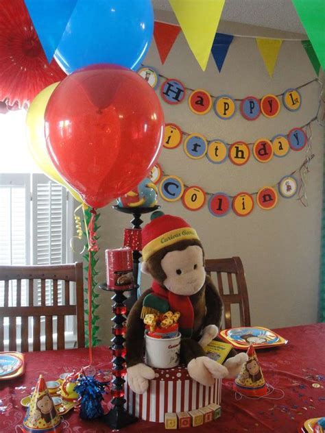 Curious George Decorations by Curious George Birthday Ideas Photo 7 Of 26