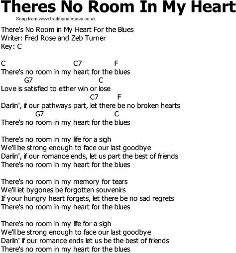 room lyrics country lyrics all world in news
