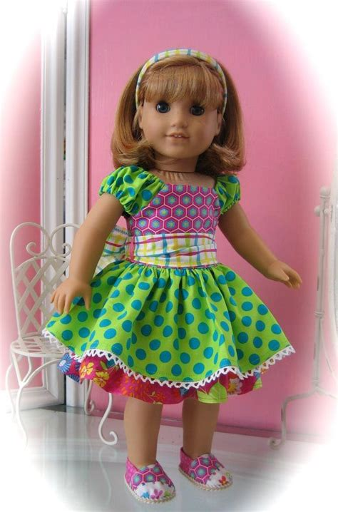 Handmade American Doll Clothes - 18 quot american doll clothes handmade dotty
