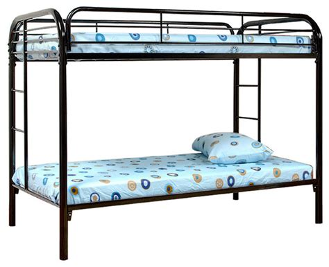 bunk bed guard rail twin over twin size metal bunk bed with built in ladder