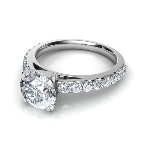 ring with diamonds around it cut engagement rings with side diamonds