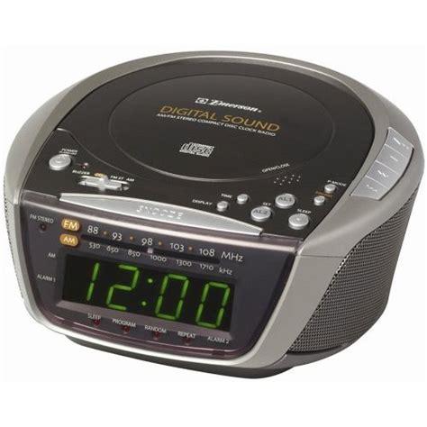 emerson cd stereo dual alarm clock radio
