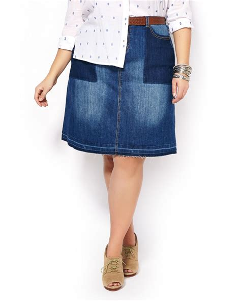 Denim Patchwork Skirt - d c patchwork denim skirt penningtons
