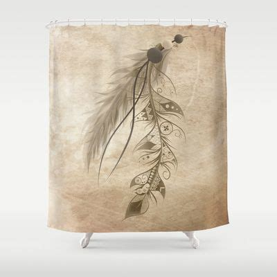 feather shower curtain bohemian feather shower curtain by loujah