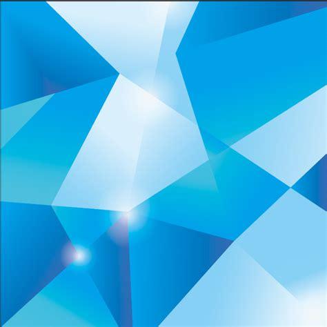 xft poligon geometris segitiga cahaya biru pola spots