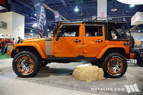 jeep orange 2016 sema rugged ridge orange jeep jk wrangler unlimited