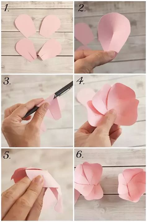 Steps To Make Paper Flowers - how to make paper flower step by images how to
