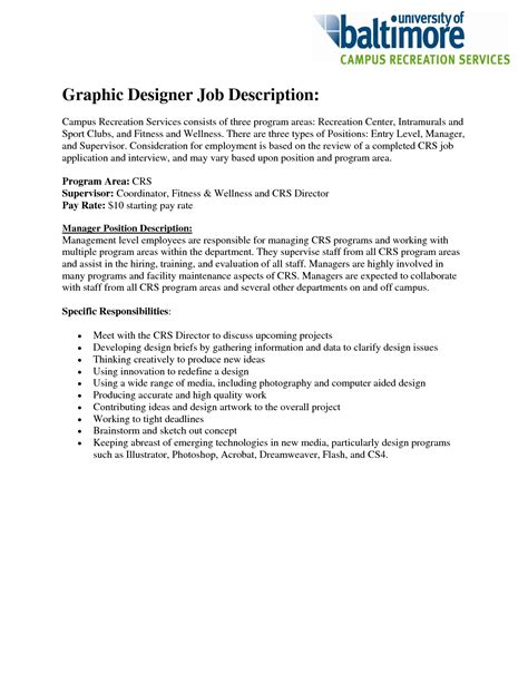 graphics design responsibilities 8 best images of graphic design artist job description