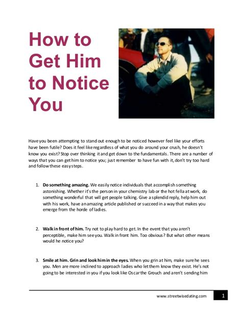Flirting Tips To Make Him Notice You by How To Get Him To Notice You