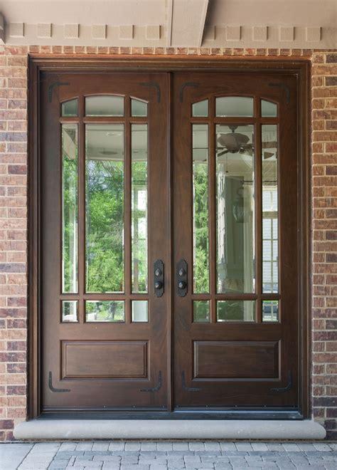exterior double doors  glass   attractive