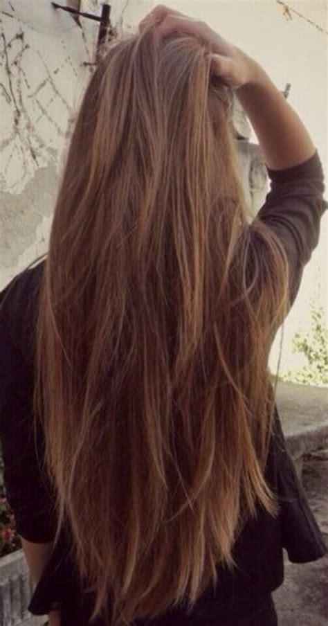 tri colored hair layer balayage straight hair gorgeoushair hair pinterest
