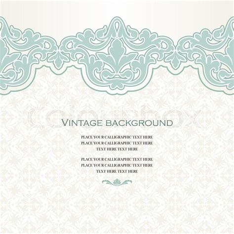 Vintage Home Design Plans Vintage Vector Card In Islamic Style Seamless Lace