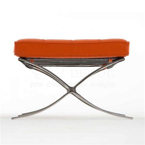 orange x bench orange leather bench exposition 2 seater bench