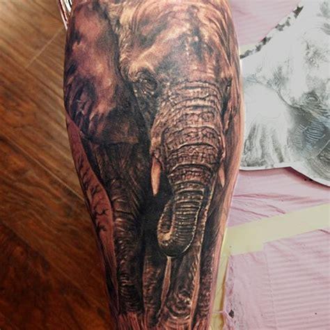 elephant tattoo black and grey orange county tattoo artist rafael barragan black and