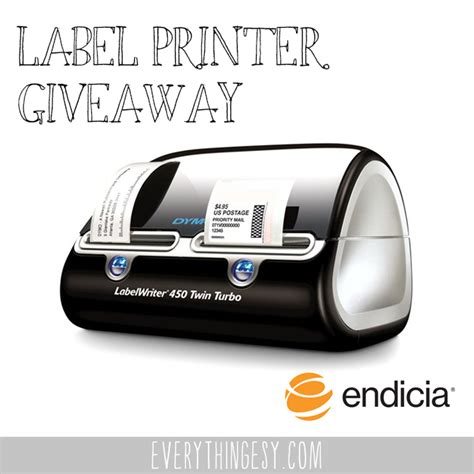 Twins Giveaways - twin turbo label printer giveaway from endicia
