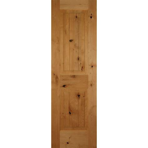 builder s choice 24 in x 80 in clear pine 6 panel builder s choice 24 in x 80 in 2 panel square top v