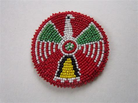 beaded medallions 3 glass beaded thunderbird rosette medallion tribal