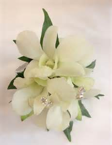 orchid wrist corsage orchid wrist corsage with diamante spriggs occasions buttonholes and corsages perth