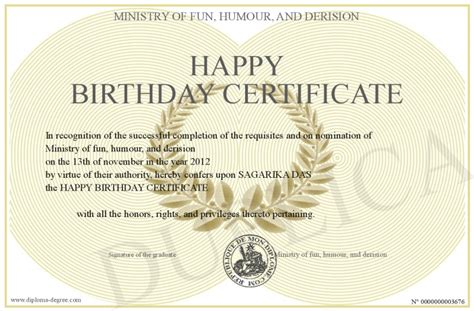 happy birthday certificate templates free happy birthday certificate