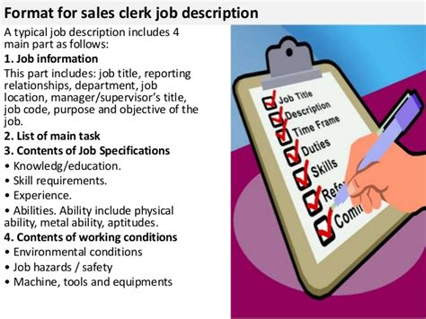 sales clerk description