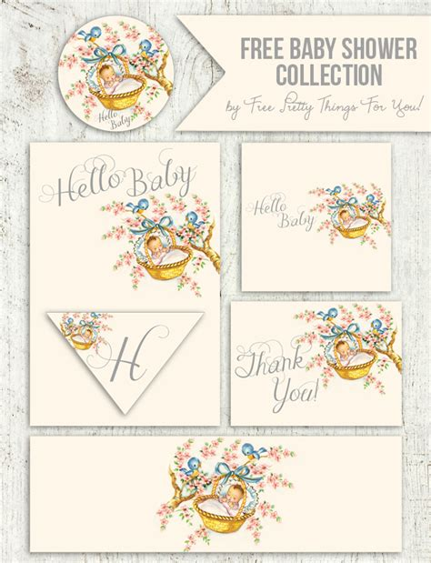 Home Welcoming Gifts Free Vintage Baby Shower Printable Collection Free