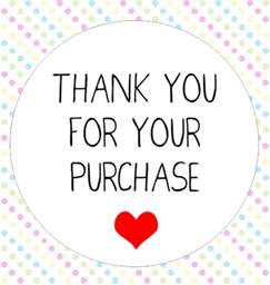 Wedding Thank You Gift 50x Thank You For Your Purchase Stickers Kiss C Folksy